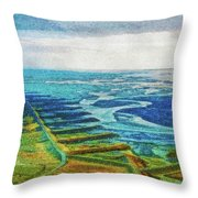 Skaftafell Floodplain Throw Pillow