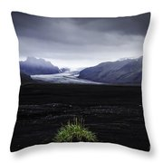 Skaftafellsjokull Glacier Throw Pillow