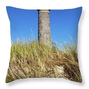 Skagen Denmark - Lighthouse Grey Tower Throw Pillow