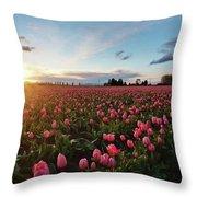 Skagit Sunset Field Throw Pillow