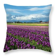 Skagit Tulip Storm Throw Pillow