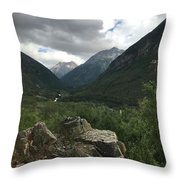 Skagway Alaska Throw Pillow