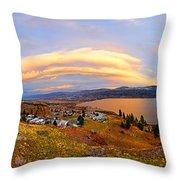 Skaha Sunset Throw Pillow