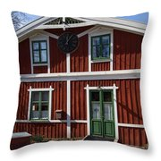 Skansen Building Throw Pillow