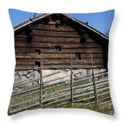 Skansen Cabin Throw Pillow