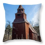 Skansen Church Throw Pillow