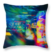 Skateboard Park Throw Pillow