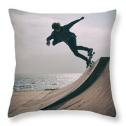 Skater Boy 007 Throw Pillow