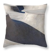 Skatescape Two Throw Pillow