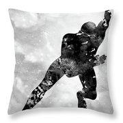 Skating Man-black Throw Pillow