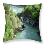 Bulkley River Canyon Throw Pillow