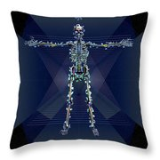 Skeletal System Throw Pillow
