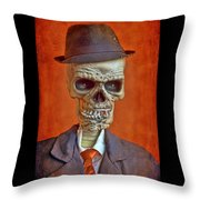 Skeleton Man Throw Pillow