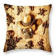 Skeleton Pendant Party Throw Pillow