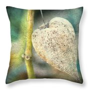 Skeleton Physalis Throw Pillow