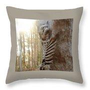 Skeleton Tree Throw Pillow