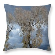 Skeleton Trees Throw Pillow