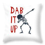 Skelleton Halloween Dabbing Funny Humor Easy Costume Dab It Up Everywhere Kids Children Dabbing Offi Throw Pillow
