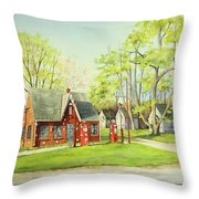 Skelly Gas Station Throw Pillow