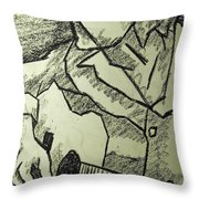 Sketch - Guitar Man Throw Pillow