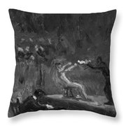 Sketch For Between Rounds Throw Pillow