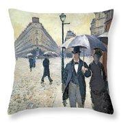 Sketch For Paris A Rainy Day Throw Pillow