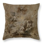 Sketch For The Banqueting House Ceiling Throw Pillow