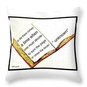 Sketch Of A Book With Quote Throw Pillow