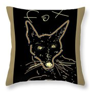 Sketch Of Fox By Kathy Barney Throw Pillow