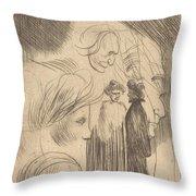 Sketch Plate Throw Pillow