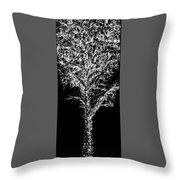 Sketchbook Tree 2-b-w Throw Pillow