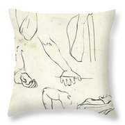 Sketches Of Arms Throw Pillow