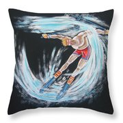 Ski Bum Throw Pillow