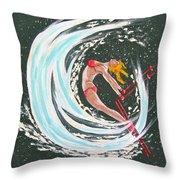 Ski Bunny Throw Pillow