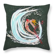 Ski Bunny Throw Pillow