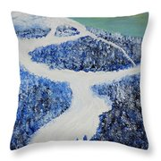 Ski Dream Throw Pillow