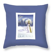Ski Italy Throw Pillow
