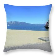Ski Run Marina Throw Pillow
