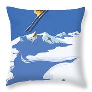 Sky Skier Throw Pillow