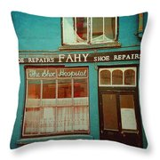 Skibbereen Shop Front Throw Pillow