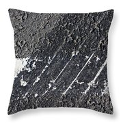 Skid Marks Throw Pillow