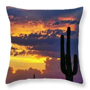 Skies Aglow In Arizona  Throw Pillow