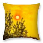 Skies Of Smoke And Fire Throw Pillow