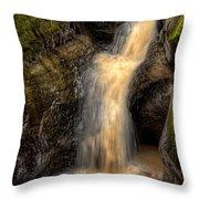 Skillet Creek Into The Deep Pool Throw Pillow