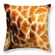 Skin Deep - Buy Giraffe Art Prints Throw Pillow