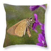 Skipper Butterly Sipping Nectar Throw Pillow