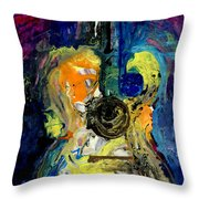 Skipping Notes Across Her Body Throw Pillow