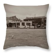 Skipton Boat House Throw Pillow