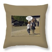 Skirting Around The Issue Throw Pillow