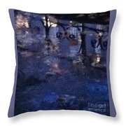 Skirting Cold Water Throw Pillow
